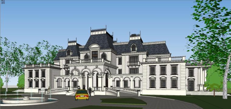 [福建]福州法式风格独栋豪宅建筑模型设计-福州法式风格独栋豪宅建筑模型设计 (4)