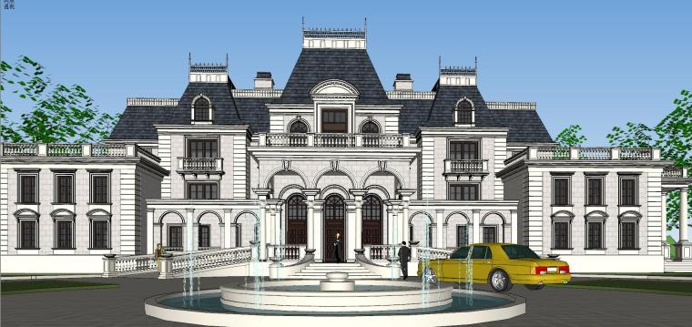 [福建]福州法式风格独栋豪宅建筑模型设计-福州法式风格独栋豪宅建筑模型设计 (5)