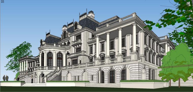 [福建]福州法式风格独栋豪宅建筑模型设计-福州法式风格独栋豪宅建筑模型设计 (10)