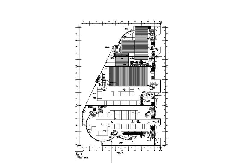 大型综合商场电气设计图纸-设备机房层平面图