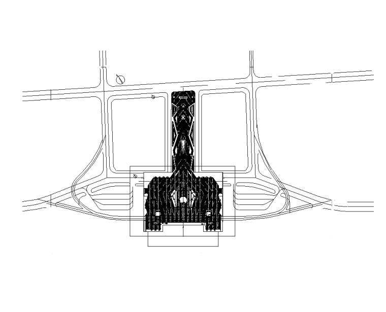 火车站站前广场景观工程水电施工图纸-电气布置平面图