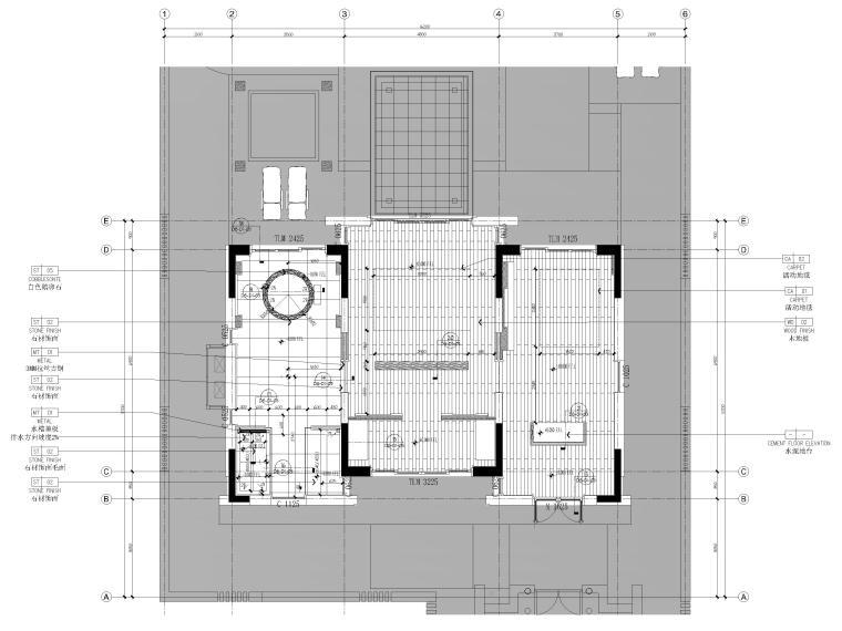 [丽江]复华度假世界88㎡独栋别墅装修施工图-地面铺装图