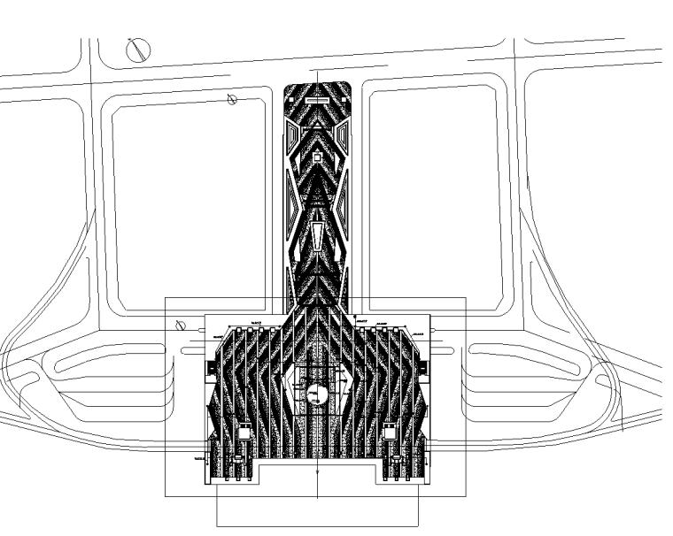 火车站站前广场景观工程水电施工图纸-给水布置图