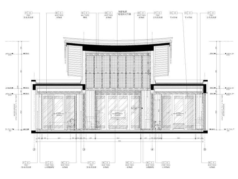 [丽江]复华度假世界88㎡独栋别墅装修施工图-别墅外立面图