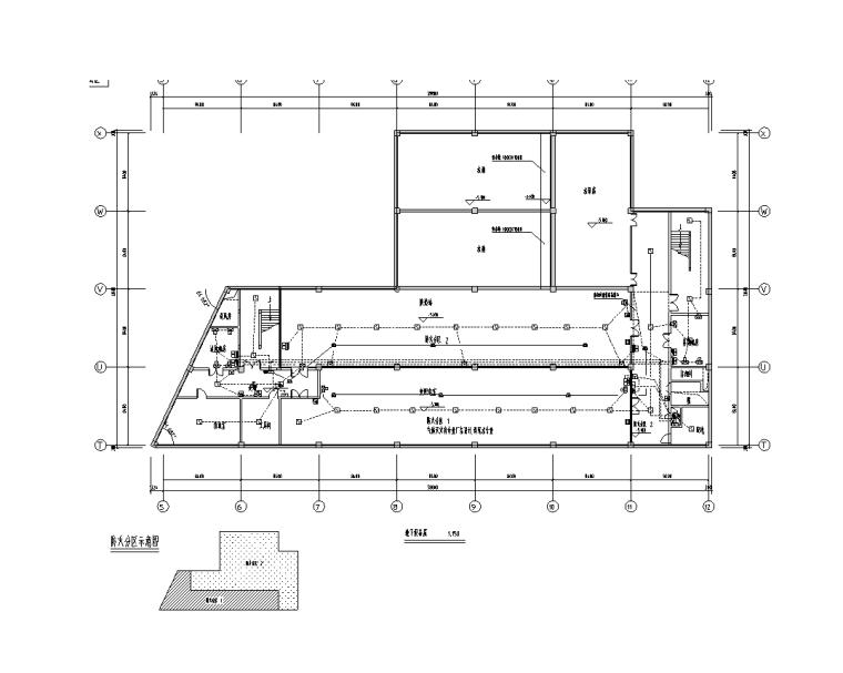 大型综合商场电气设计图纸-地下设备层