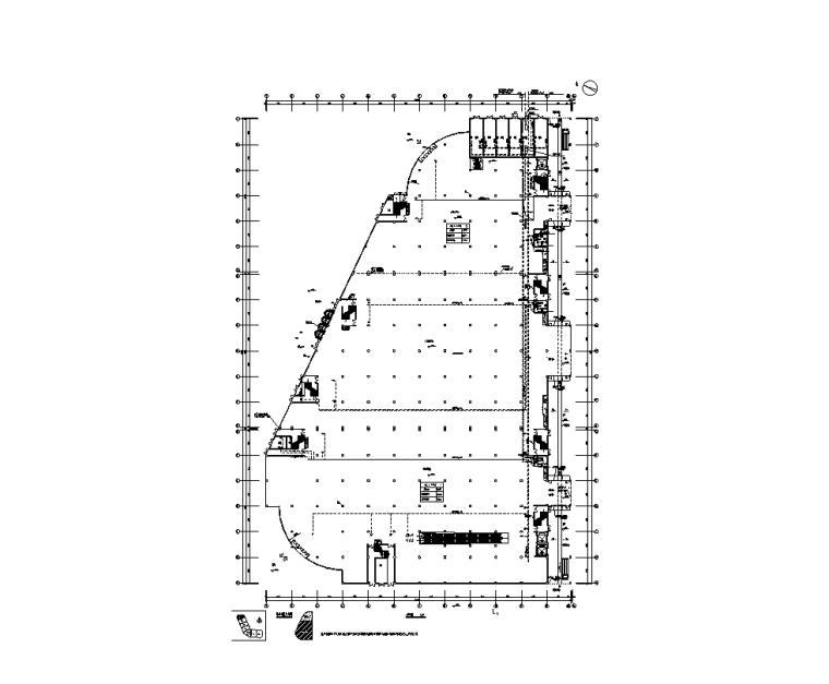 大型综合商场电气设计图纸-一层平面图