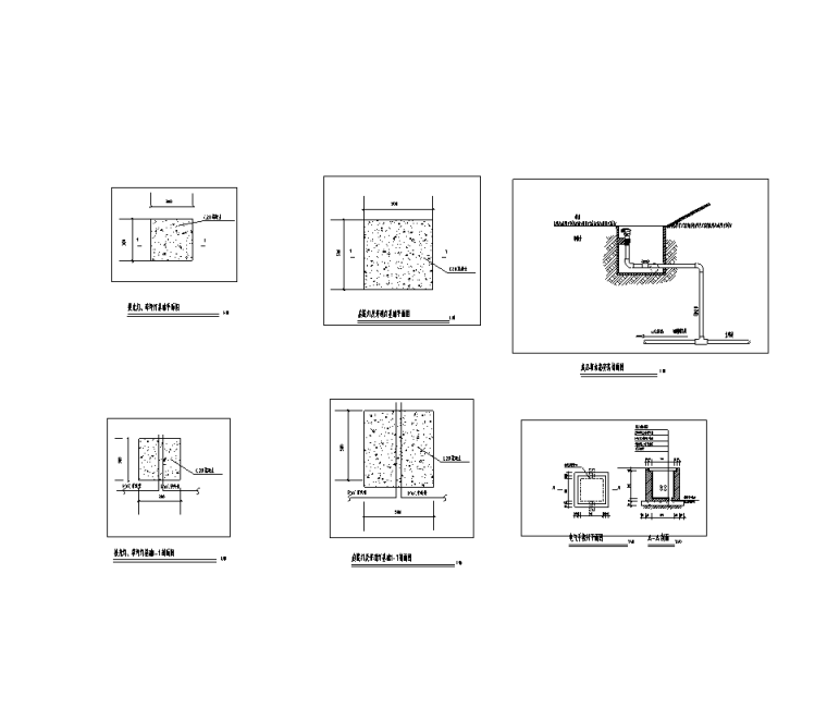 火车站站前广场景观工程水电施工图纸-电气安装详图