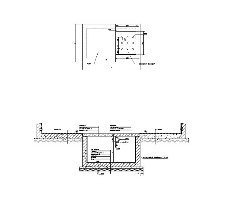 火车站站前广场景观工程水电施工图纸-泵坑详图