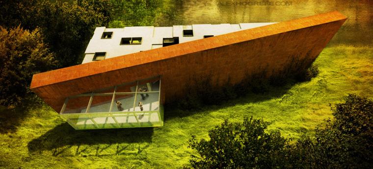 好看的建筑效果图-axoloti_museum_architecture_illustration_alex_hogrefe