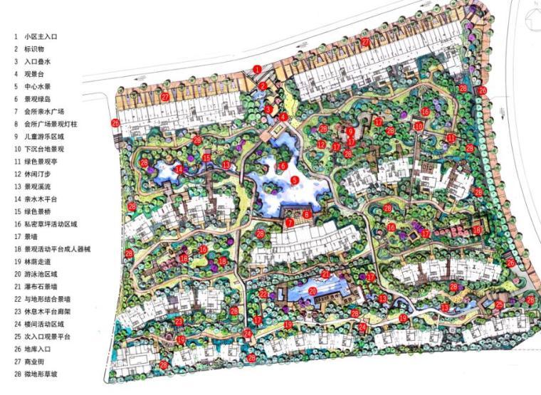 现代风情自然住宅景观概念方案设计 (1)