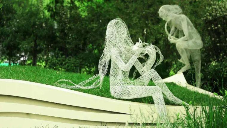 雕塑装置,景观中的点睛之笔_12