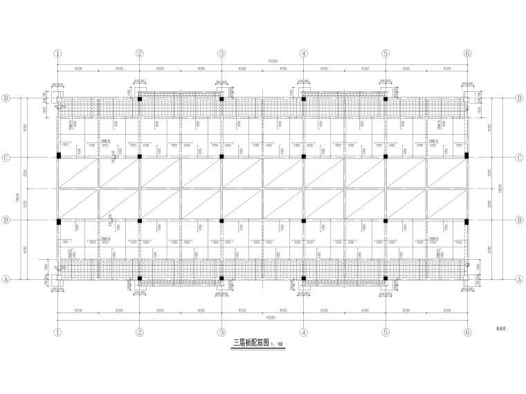 [宜春]3层框架结构商贸楼结构施工图2016-板配筋图