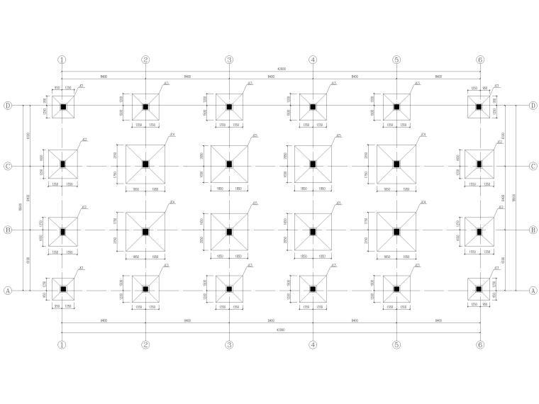 [宜春]3层框架结构商贸楼结构施工图2016-基础平面布置图