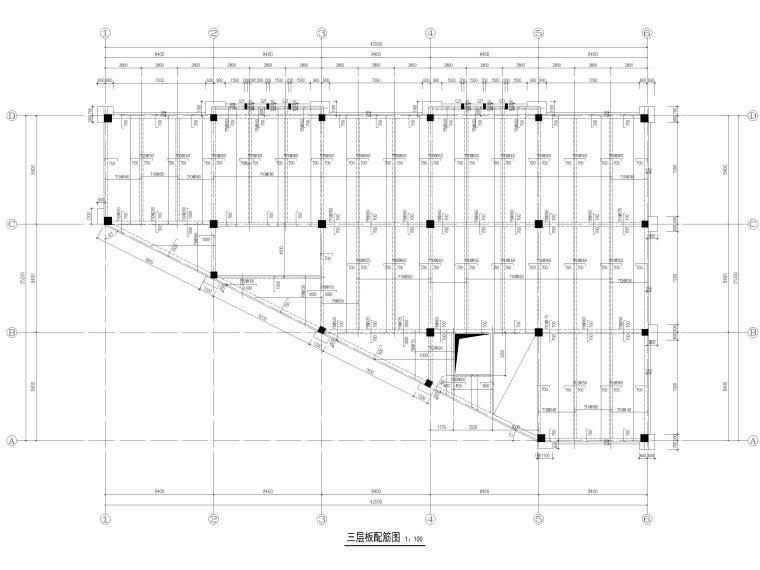 [宜春]3层框架结构仓库结构施工图2016-板配筋图
