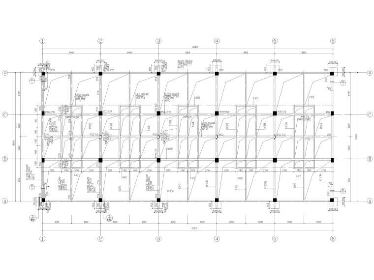 [宜春]3层框架结构商贸楼结构施工图2016-梁配筋图