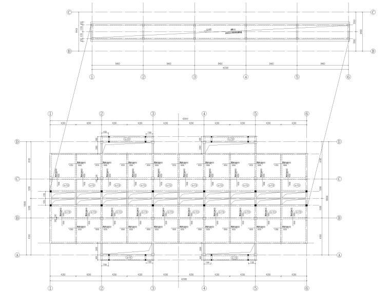 [宜春]3层框架结构商贸楼结构施工图2016-屋顶层板配筋图