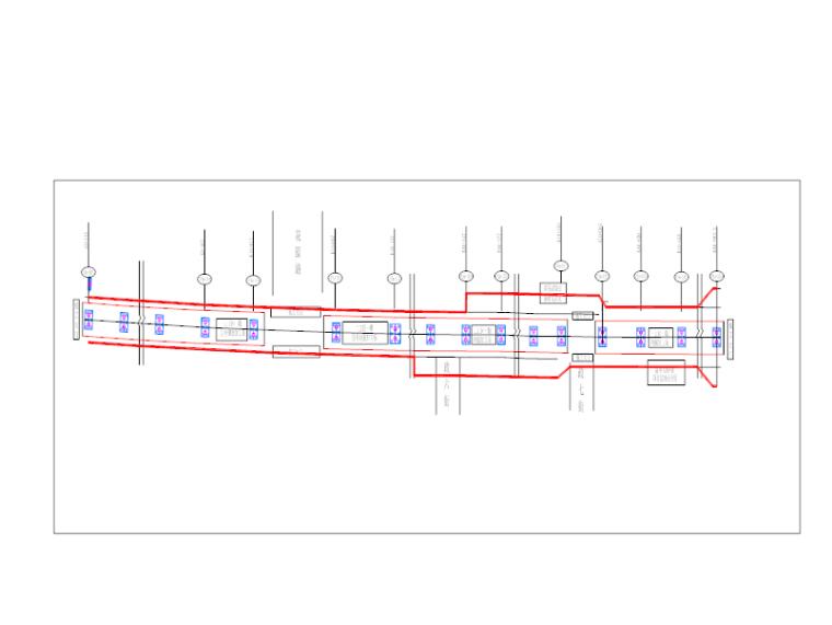 [河南]高架桥道路现浇砼箱梁施工方案-箱梁总平面图