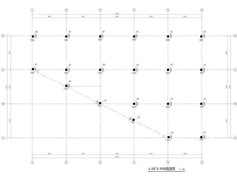 [宜春]3层框架结构仓库结构施工图2016-柱配筋图