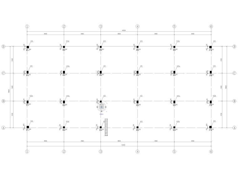 [宜春]3层框架结构商贸楼结构施工图2016-柱配筋图