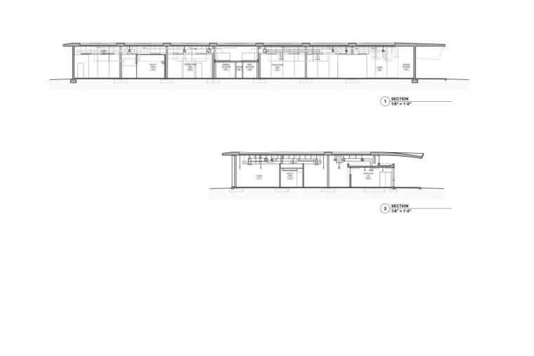 美国迈阿密大学建筑学院剖面图