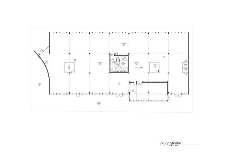美国迈阿密大学建筑学院平面图2