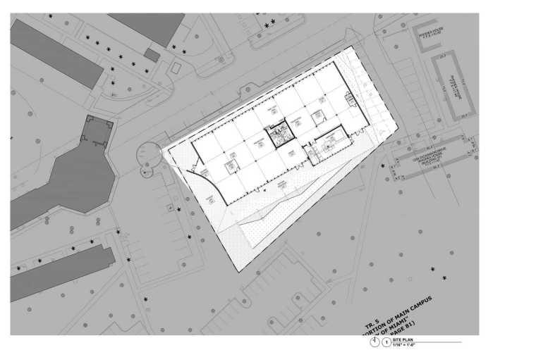 美国迈阿密大学建筑学院平面图