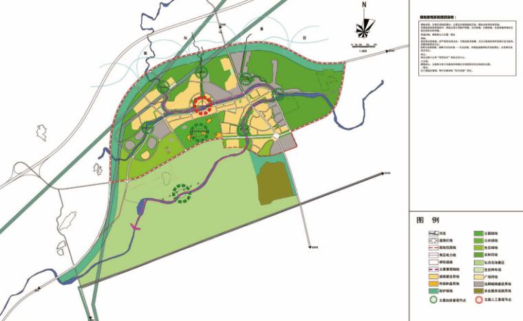 [四川]成都主题文化旅游产业园景观规划-绿地景观系统规划