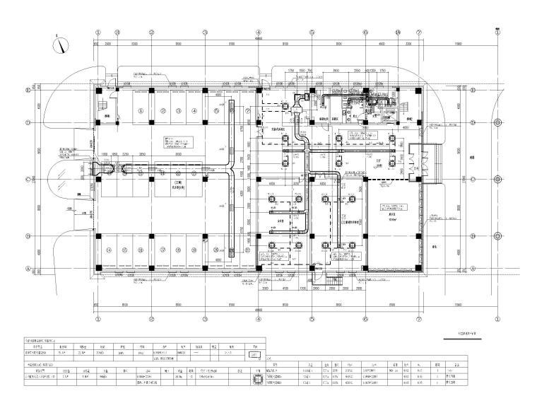 [北京]科技产业园办公楼暖通施工图-[北京]三层办公楼散热器采暖及空调通风设计-一层空调通风平面图