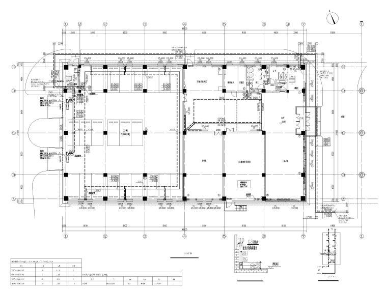 [北京]科技产业园办公楼暖通施工图-[北京]三层办公楼散热器采暖及空调通风设计-一层采暖平面图