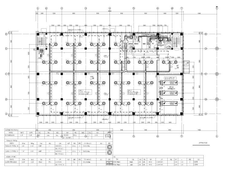 [北京]科技产业园办公楼暖通施工图-[北京]三层办公楼散热器采暖及空调通风设计-二层空调通风平面图