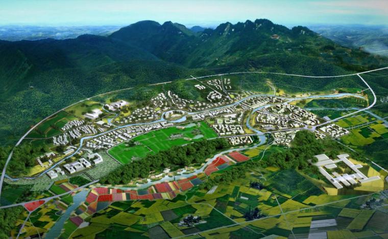 [四川]成都主题文化旅游产业园景观规划-鸟瞰图