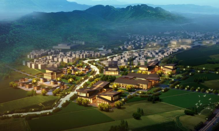 [四川]成都主题文化旅游产业园景观规划-鸟瞰图2