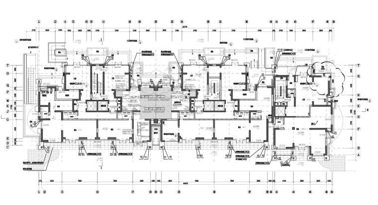 上海现代风高层1梯2户户型图设计 (1)