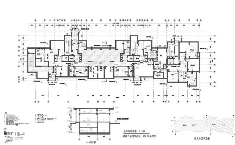 上海现代风高层1梯2户户型图设计 (2)