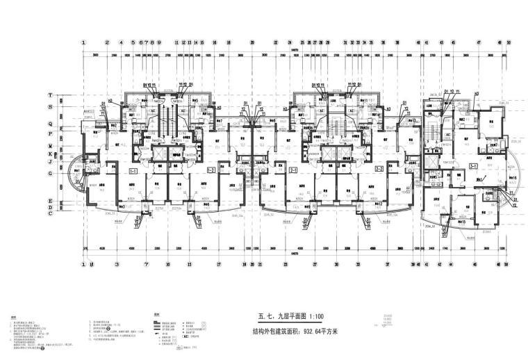 上海现代风高层1梯2户户型图设计 (6)