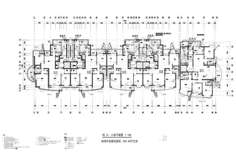 上海现代风高层1梯2户户型图设计 (5)
