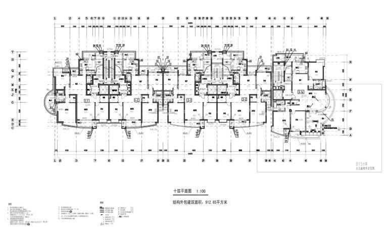 上海现代风高层1梯2户户型图设计 (7)