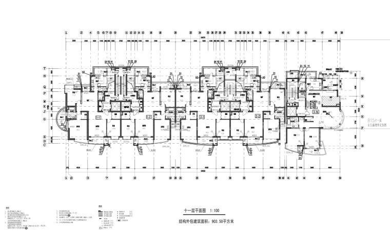 上海现代风高层1梯2户户型图设计 (8)