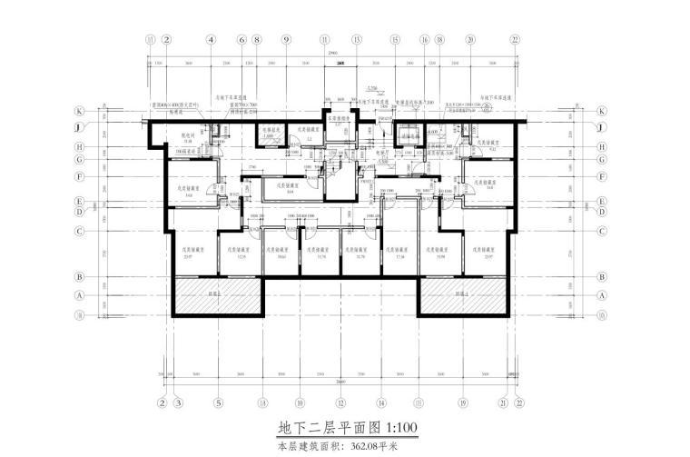 深圳1梯2户高层住宅户型图设计 (1)