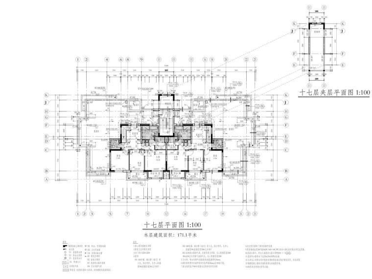 深圳1梯2户高层住宅户型图设计 (8)