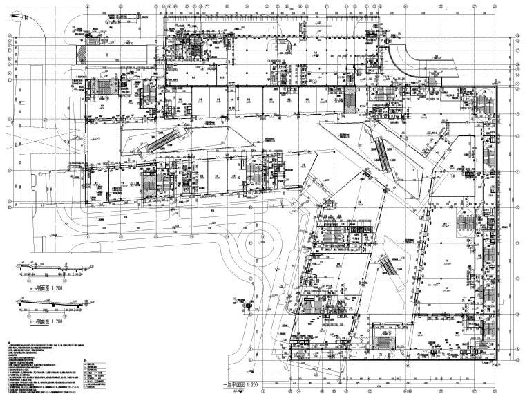 [福建]厦门地上16层高层酒店建筑施工图-一层平面图
