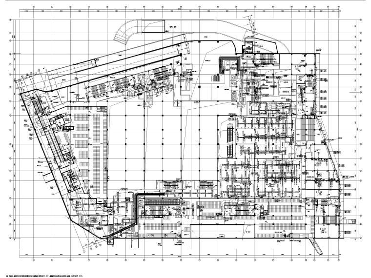 8套商业建筑全空气系统施工图纸[精品资料]-江苏多层商业建筑中央空调系统及通风设计图-地下一层(夹层)空调通风平面图