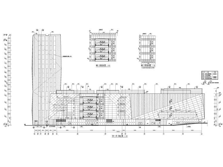 [福建]厦门地上16层高层酒店建筑施工图-立面图3
