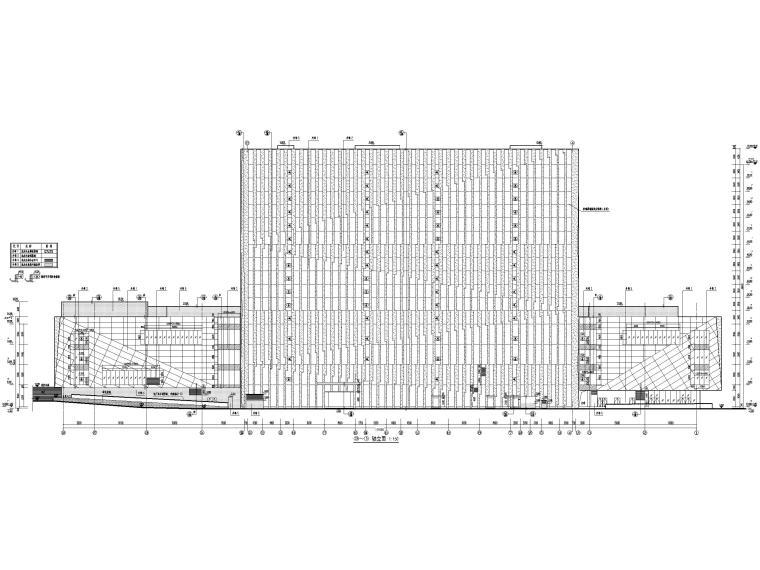 [福建]厦门地上16层高层酒店建筑施工图-立面图2
