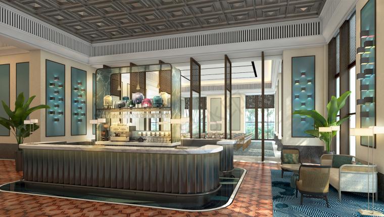 厦门安达仕酒店丨JPG平面+最终效果图丨48P-会客区效果图