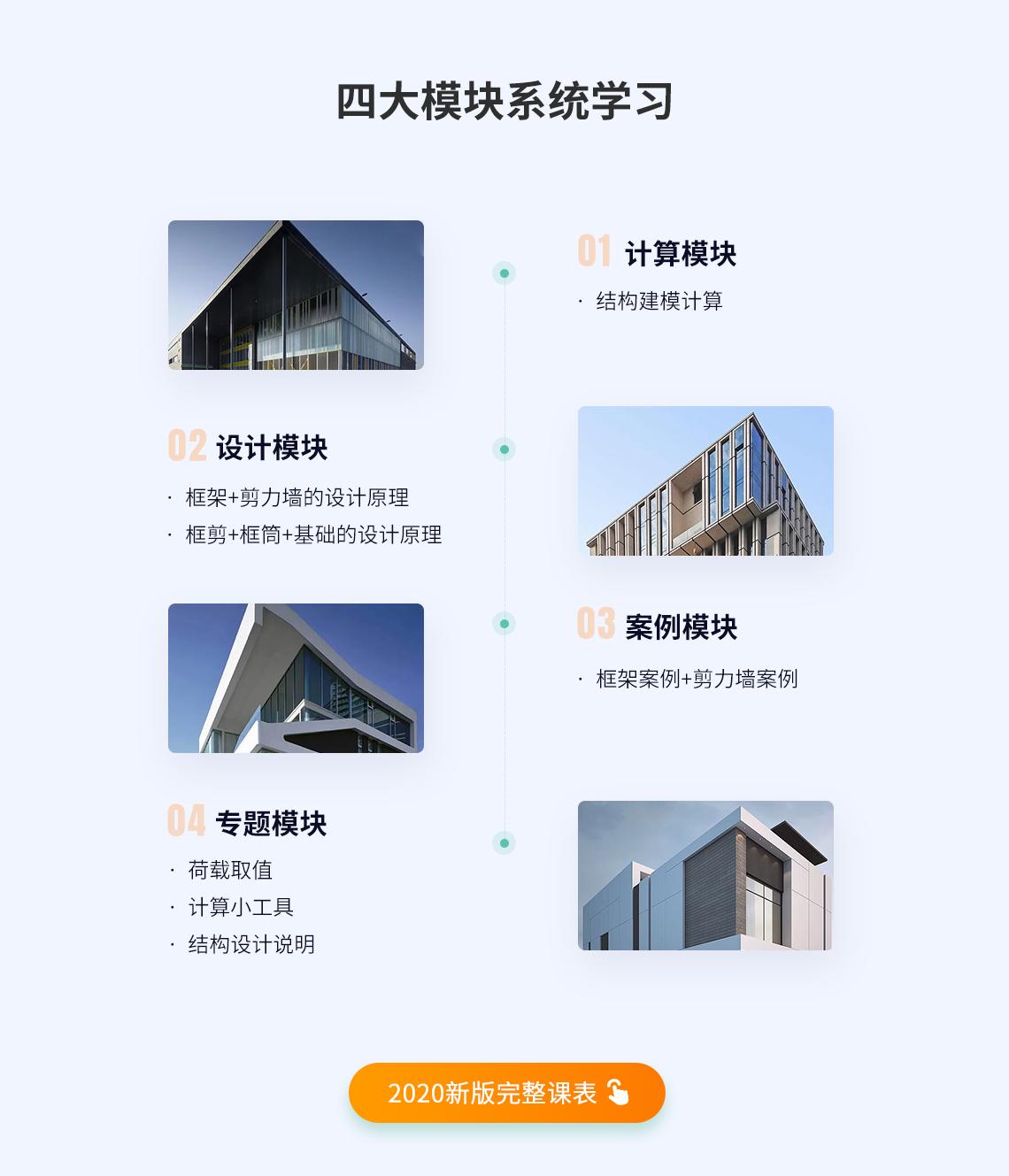 全流程案例教学,讲解混凝土结构设计,框架结构设计,框剪结构设计,结构设计软件,梁板墙柱设计要点,结构建模计算,结构施工图绘制等