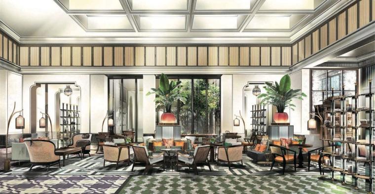 厦门安达仕酒店丨JPG平面+最终效果图丨48P-社交空间The Atelier-1