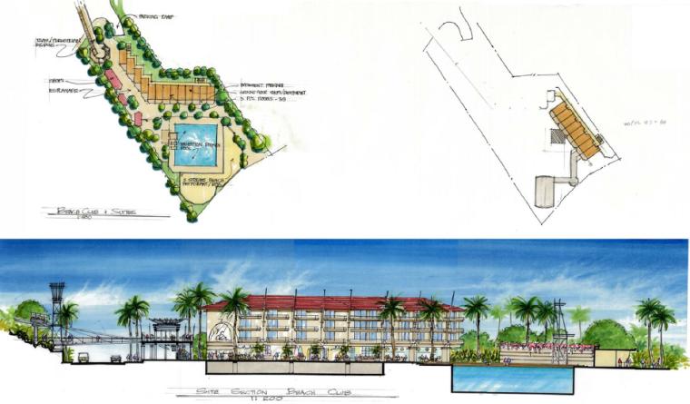 [海南]三亚旅游休闲度假酒店景观设计方案-酒店剖立面图2