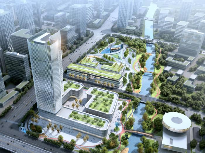 杭州智慧网谷整体城市规划设计方案文本2020-鸟瞰图
