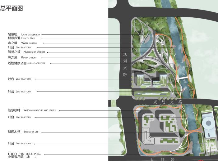 杭州智慧网谷整体城市规划设计方案文本2020-总平面图